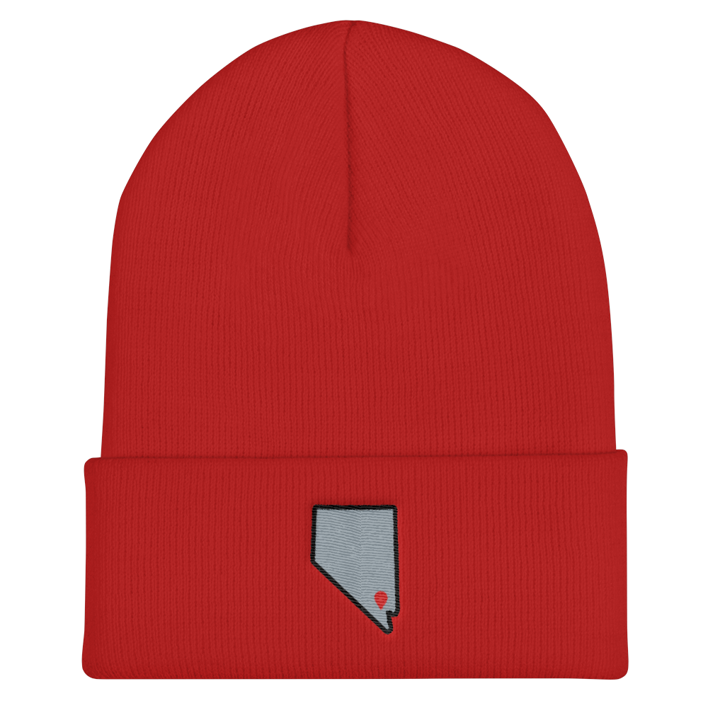 red Location Las Vegas Cuffed Beanie