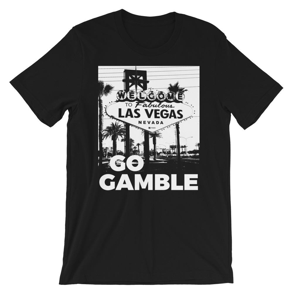 Go Gamble B&W Ink Las Vegas Sign T-Shirt