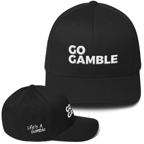 black go gamble flexfit hat