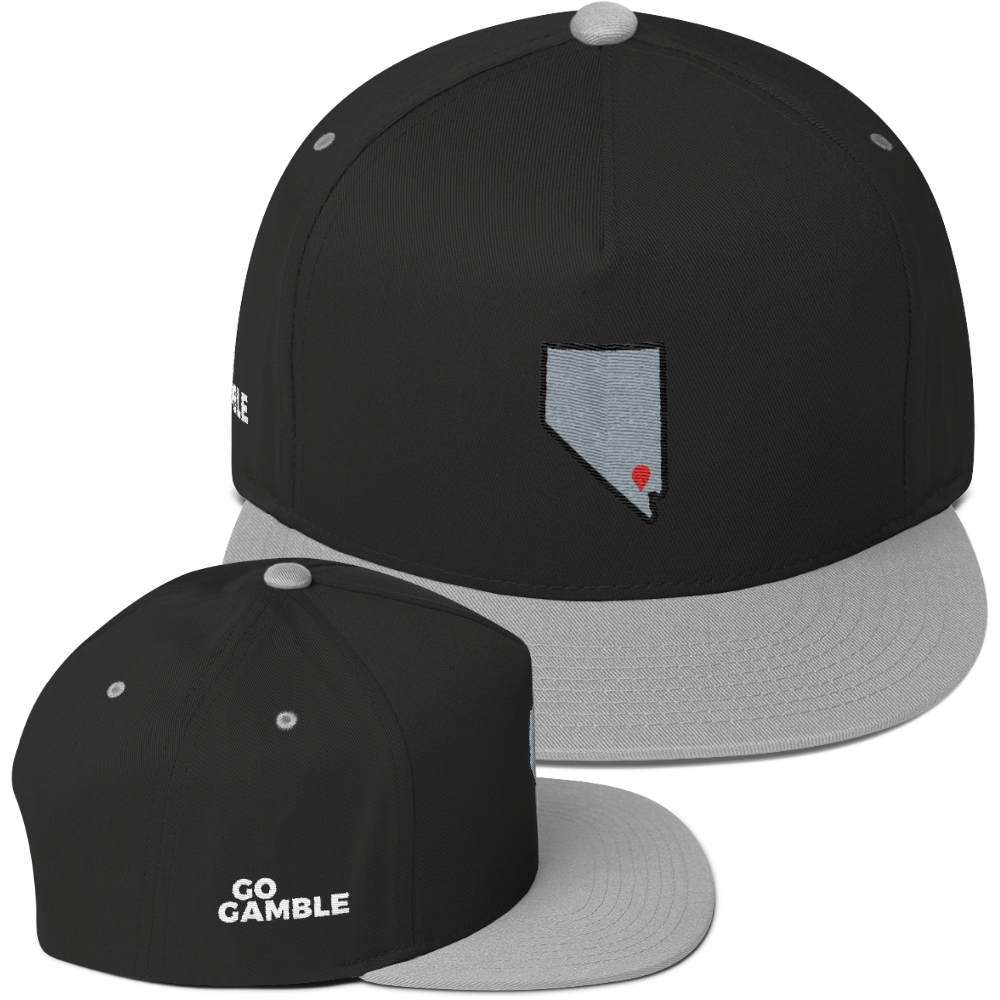 black/grey Location Las Vegas Cotton Snapback