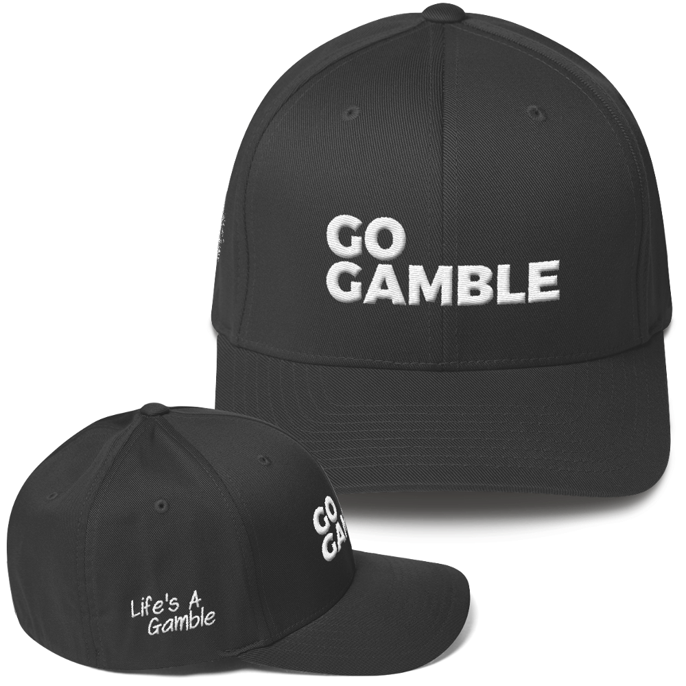dark grey go gamble flexfit hat