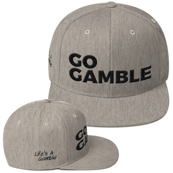 heather grey go gamble snapback hat