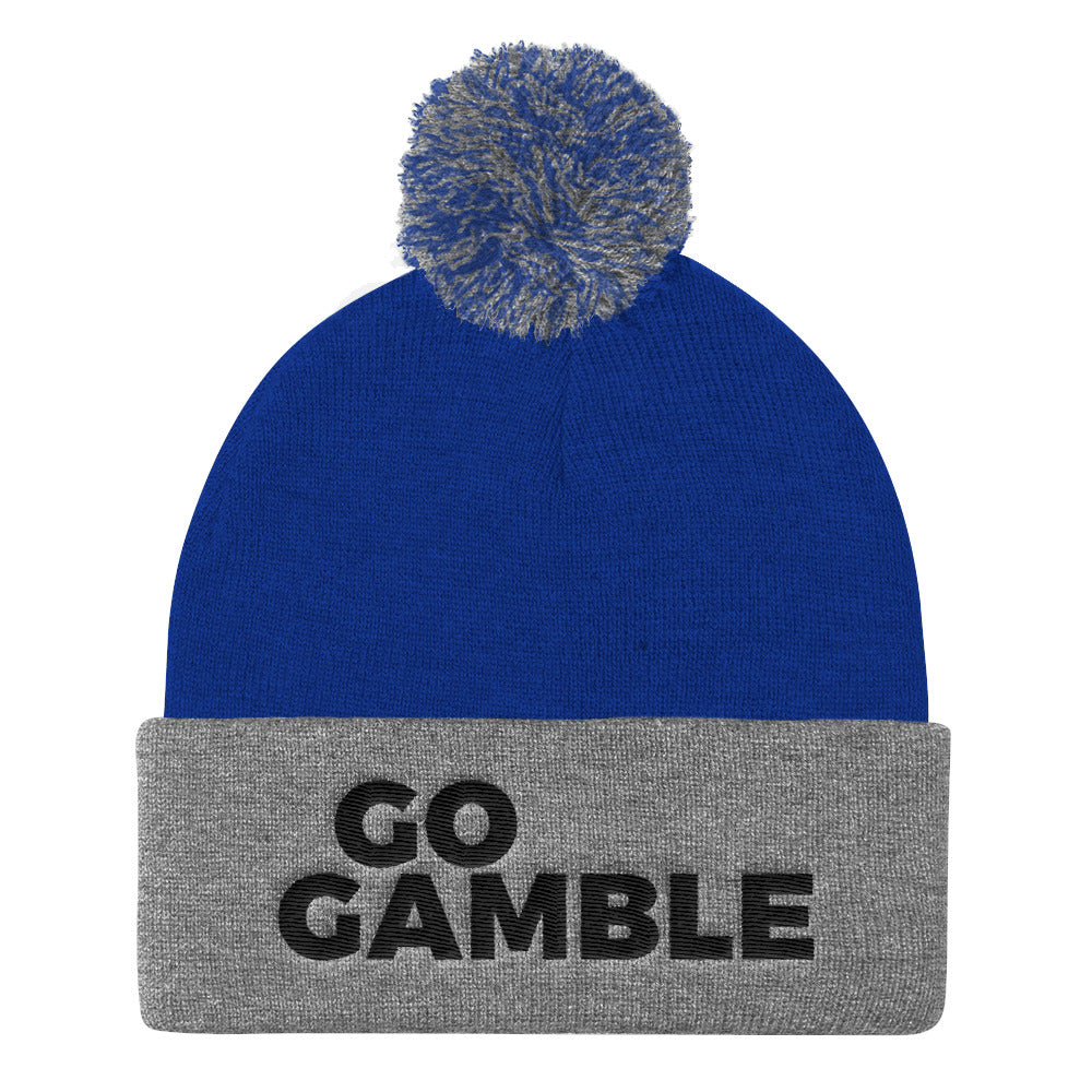 Go Gamble Pom beanie royal/grey