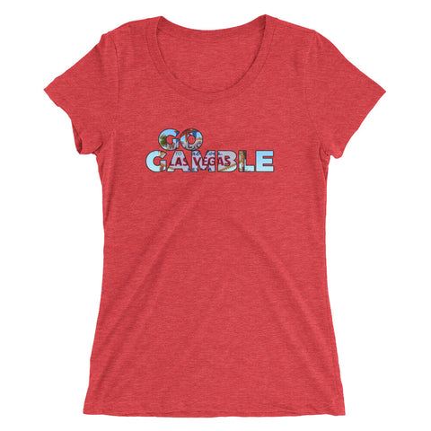 Go Gamble Las Vegas Sign Ladies' Tri-Blend T-Shirt