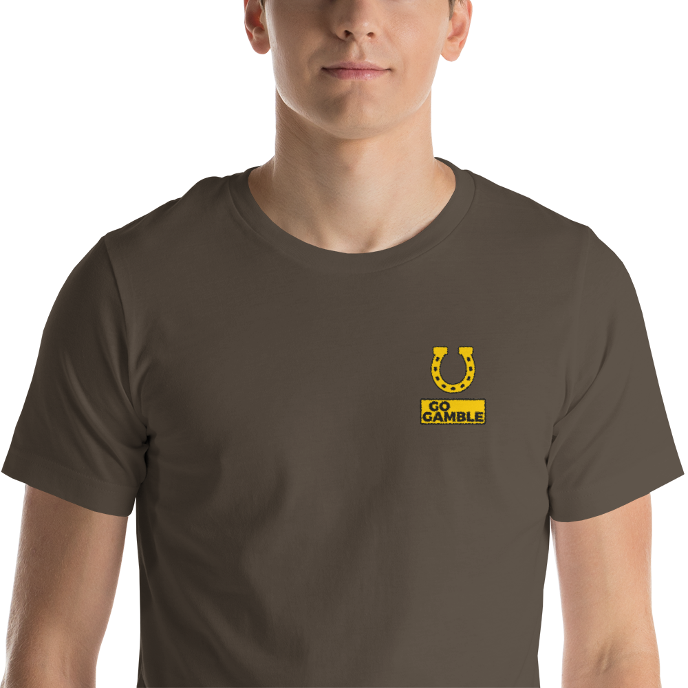 army Horseshoe Lucky Embroidered T-Shirt