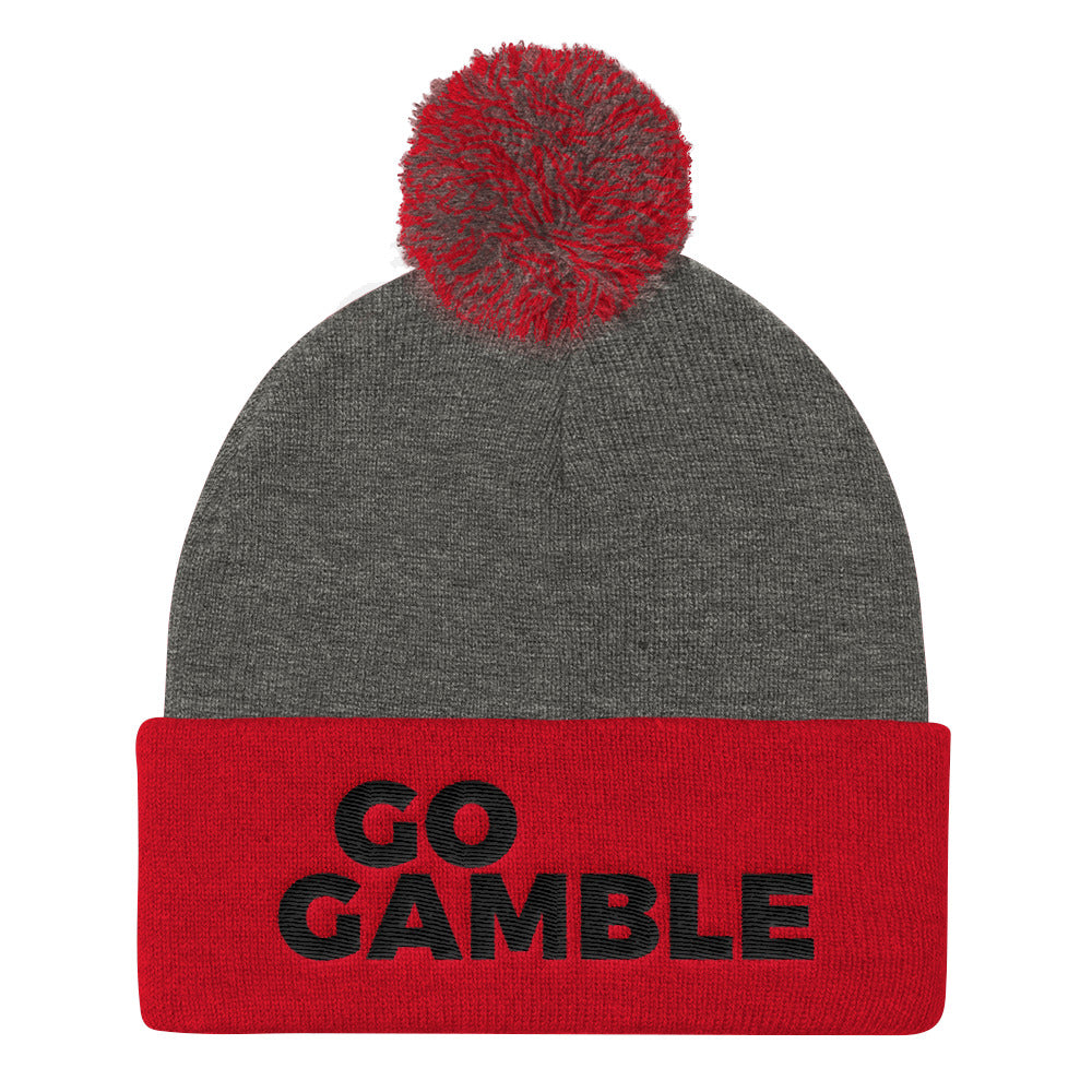 Go Gamble Pom beanie red/grey