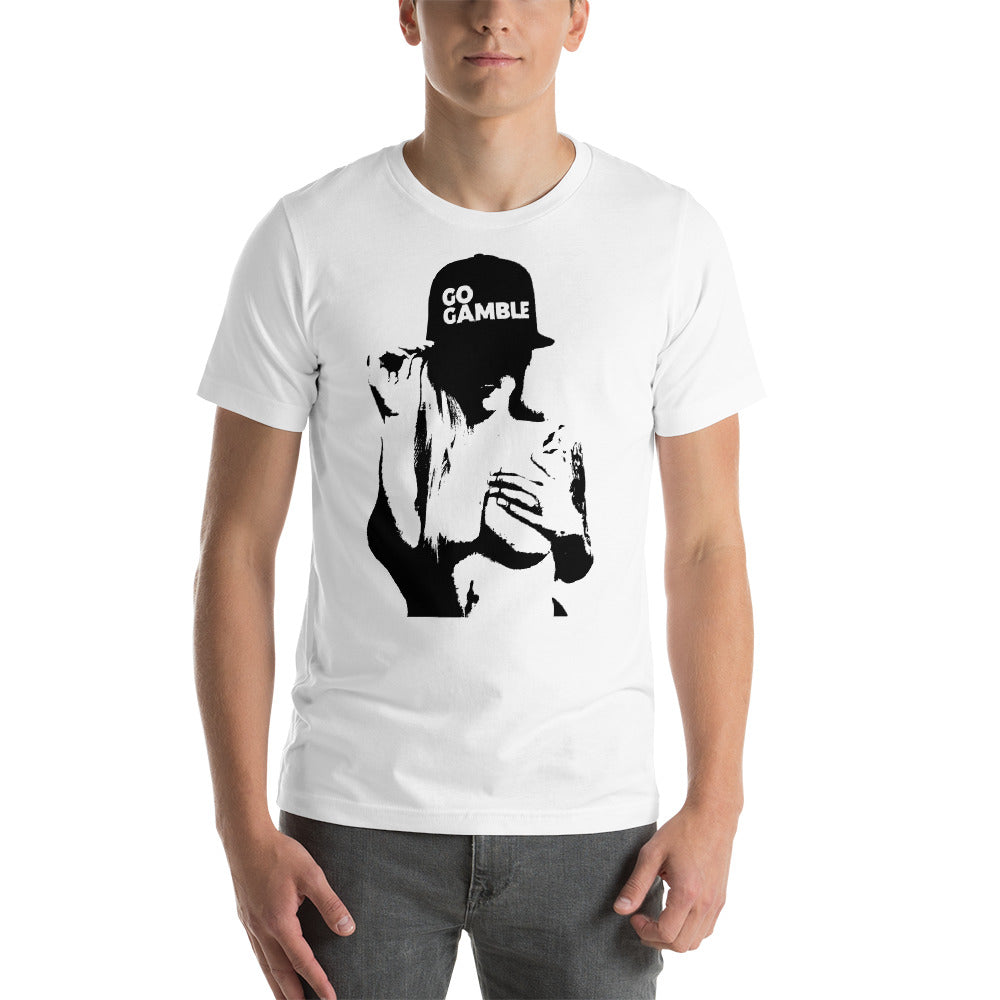 white Inked Shadow Go Gamble T-Shirt