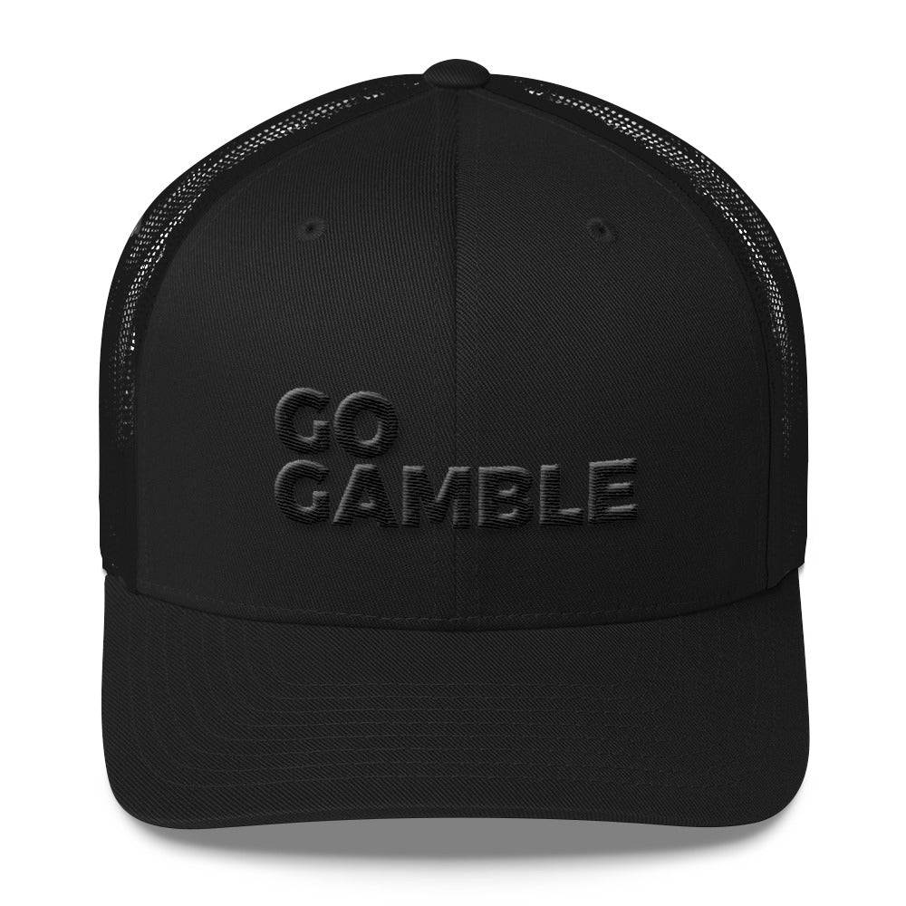 Stealth Mode Go Gamble Retro Trucker Cap