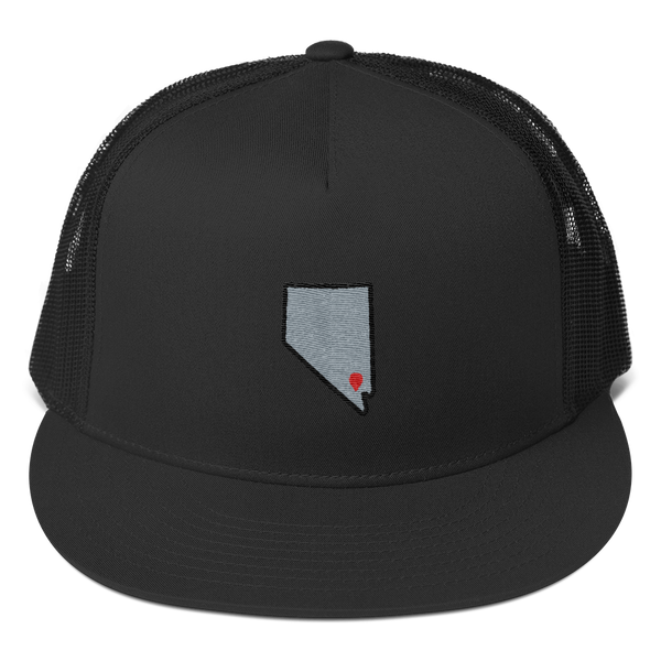 black Location Las Vegas Trucker Hat