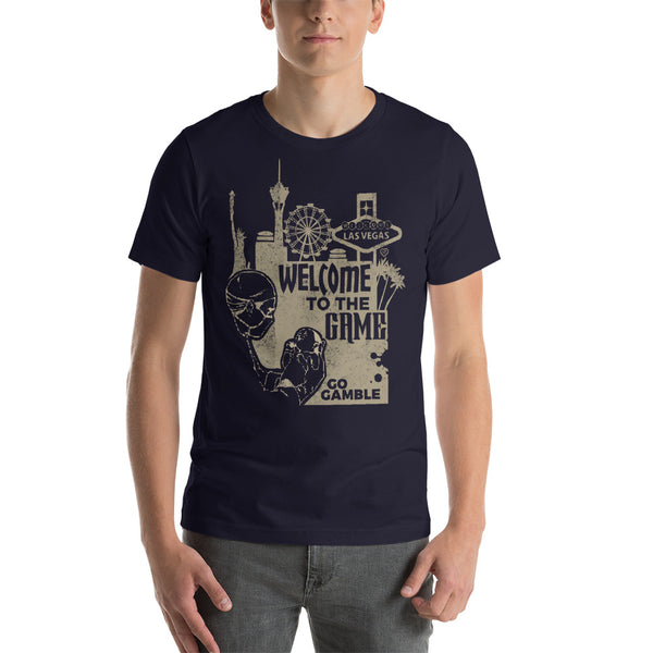 navy Welcome to the Game T-shirt