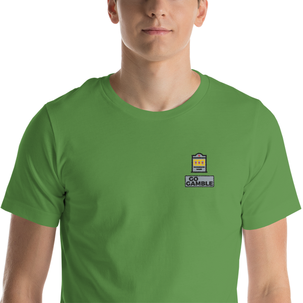 leaf Slot Machine Lucky Embroidered T-Shirt