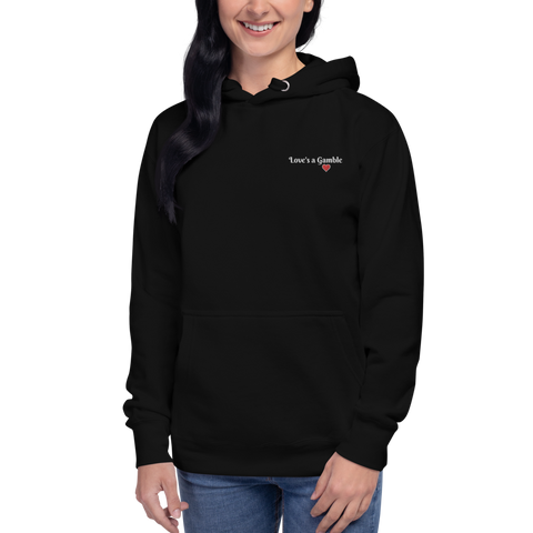 Love's a Gamble Embroidered Premium Pullover Hoodie