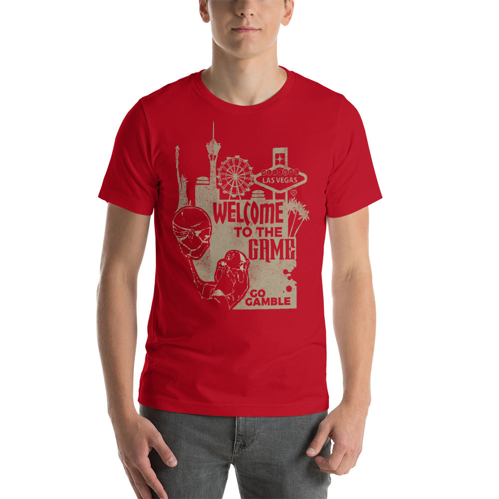 red Welcome to the Game T-shirt