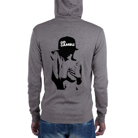 grey Inked Shadow Lightweight Triblend Zip Hoodie