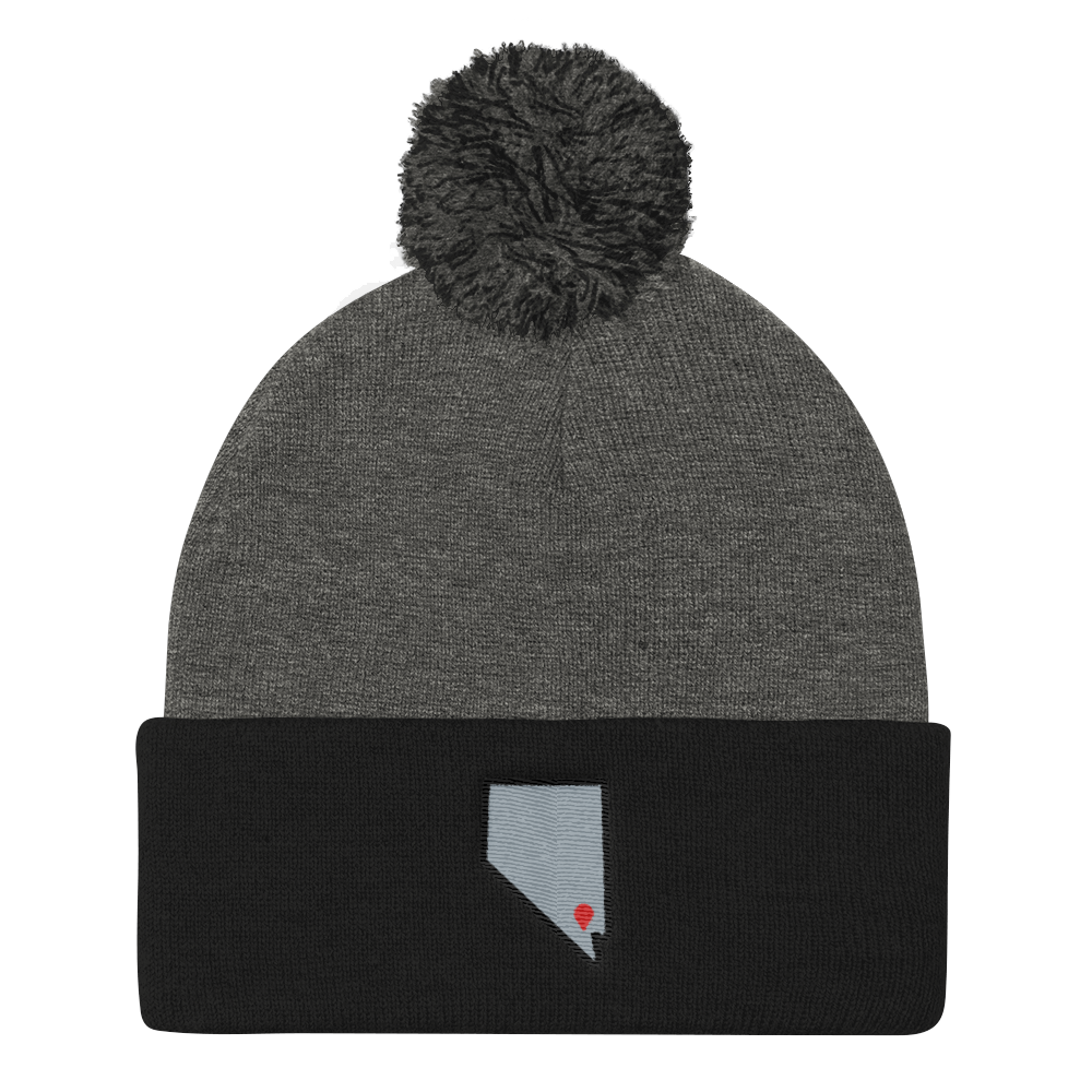 dark heather grey/black Location Las Vegas Pom Beanie