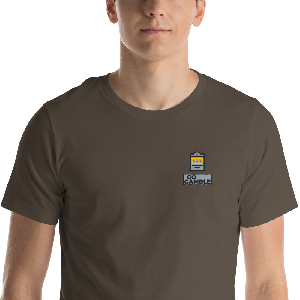 army Slot Machine Lucky Embroidered T-Shirt