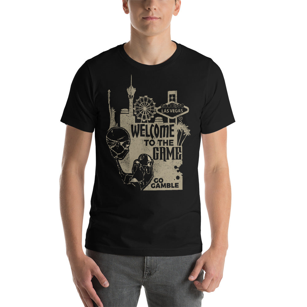 black Welcome to the Game T-shirt