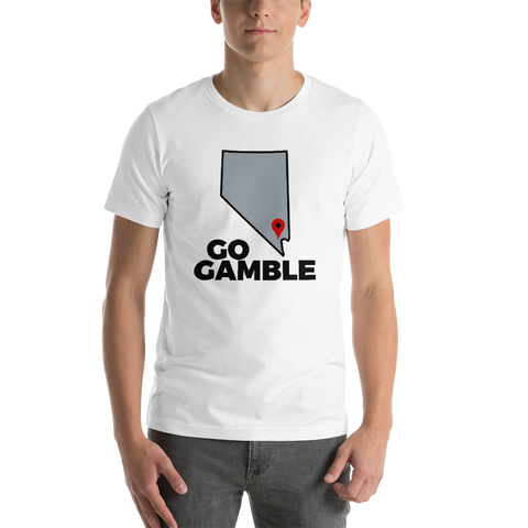 white Location Las Vegas T-Shirt