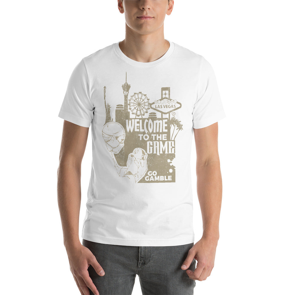 White Welcome to the Game T-shirt