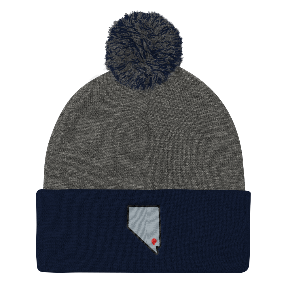 dark heather grey/navy Location Las Vegas Pom Beanie