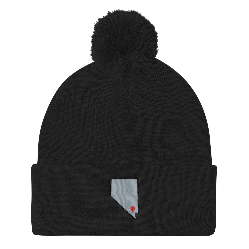 black Location Las Vegas Pom Beanie