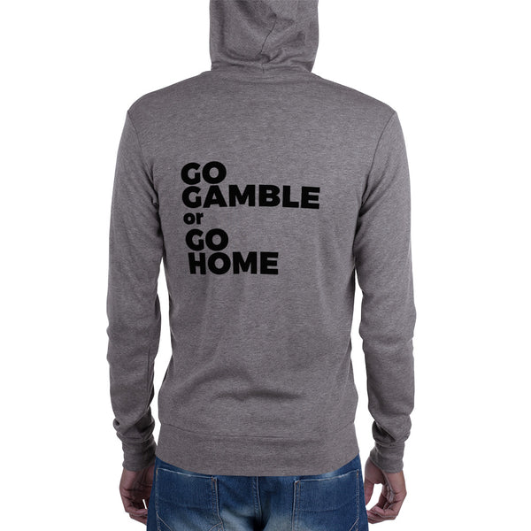 grey Go Gamble or Go Home Lightweight Triblend Zip Hoodie