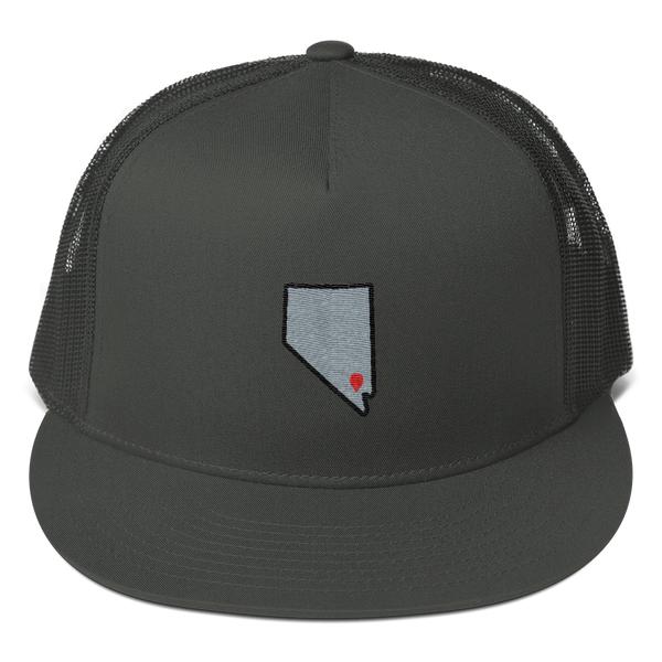 charcoal Location Las Vegas Trucker Hat