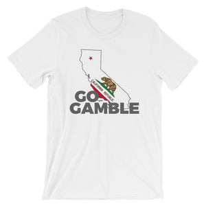 white California Go Gamble T-Shirt