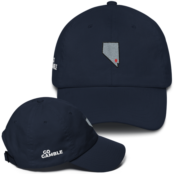 navy Location Las Vegas Classic Dad Cap