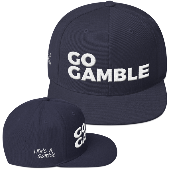navy go gamble snapback hat