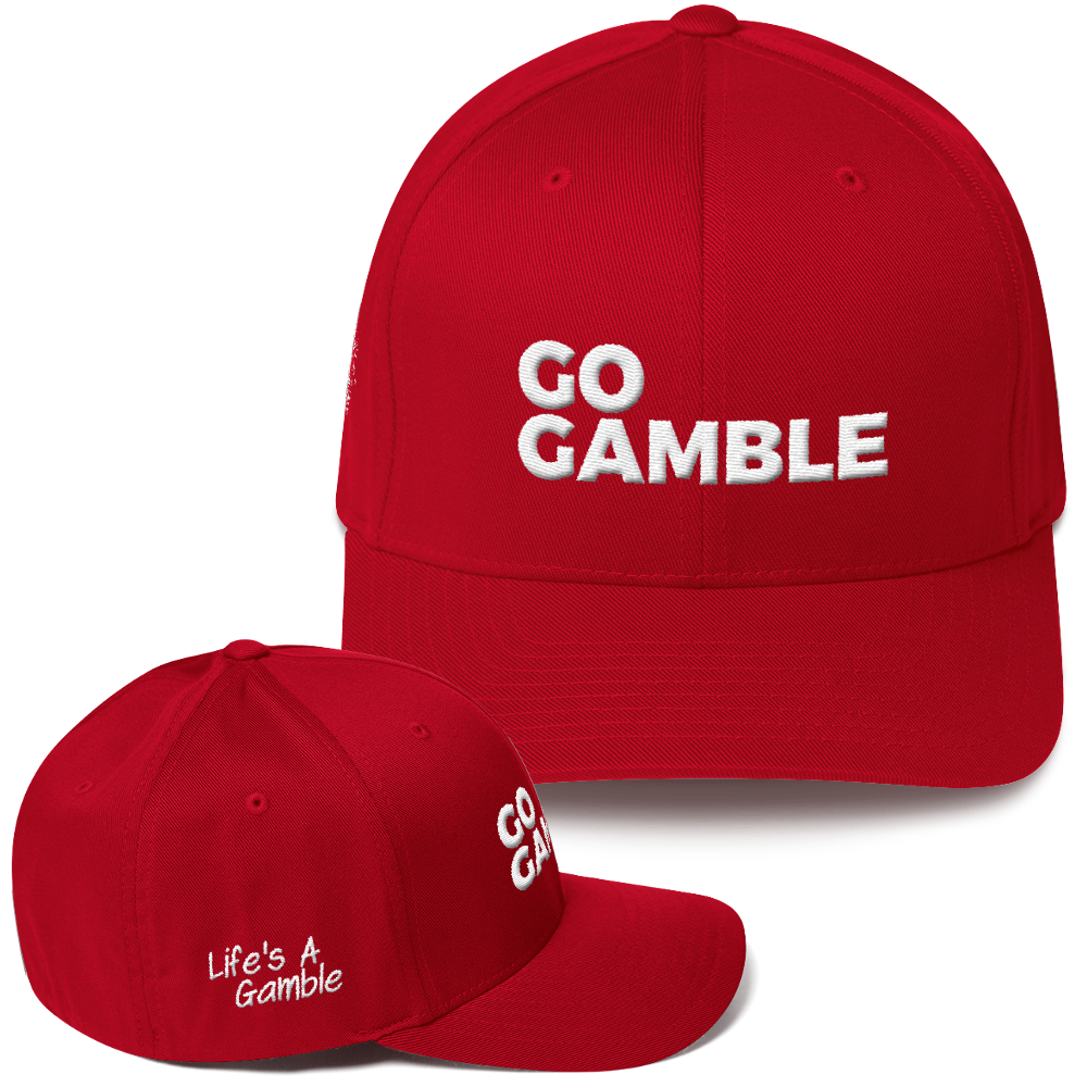 red go gamble flexfit hat