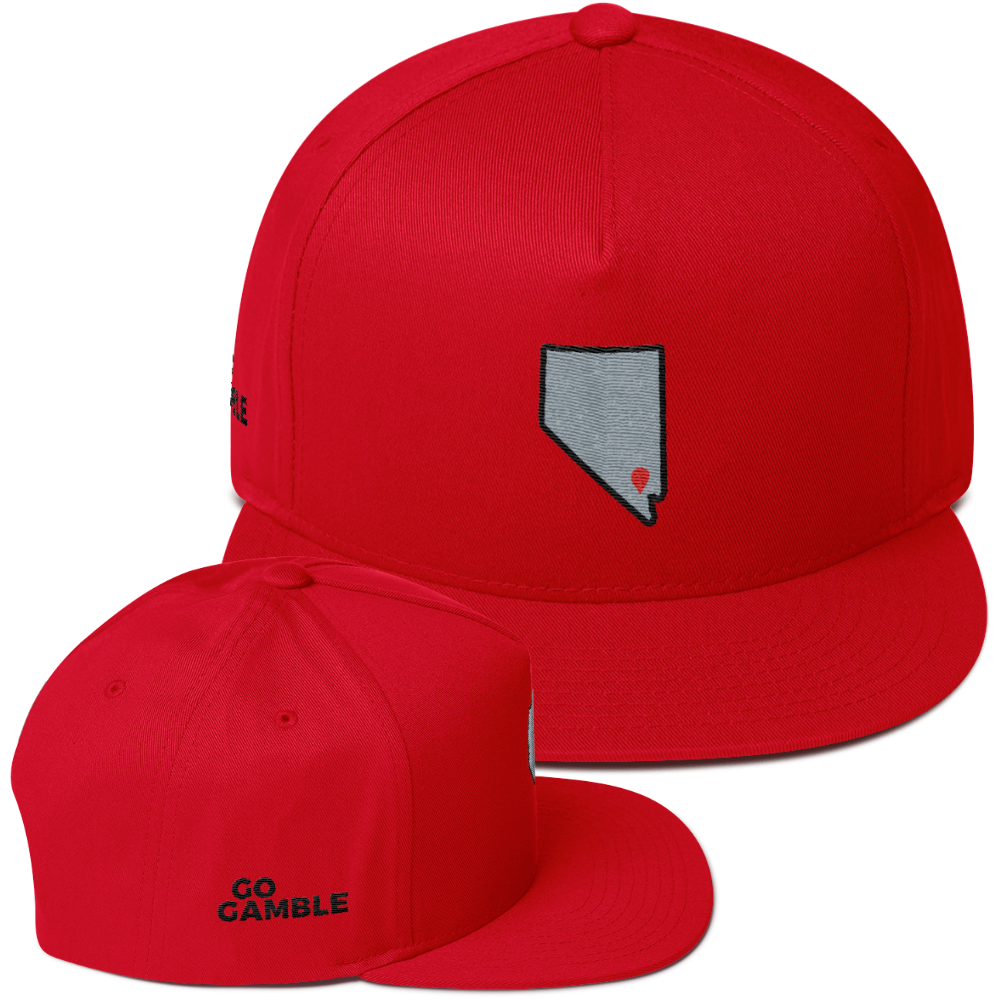 red Location Las Vegas Cotton Snapback