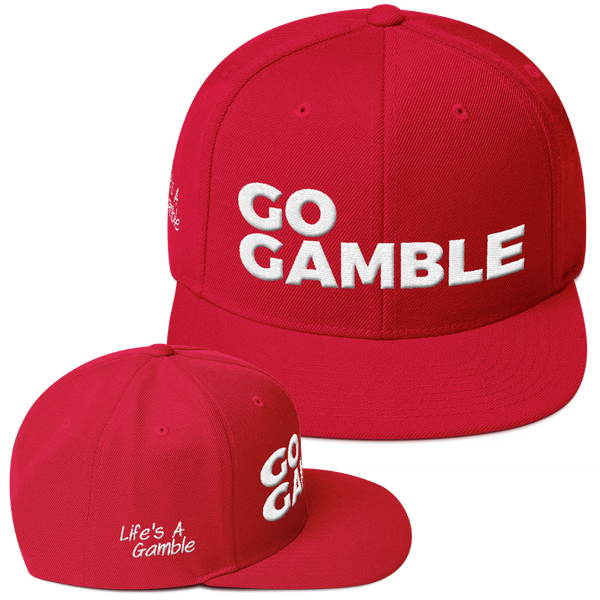 red go gamble snapback hat