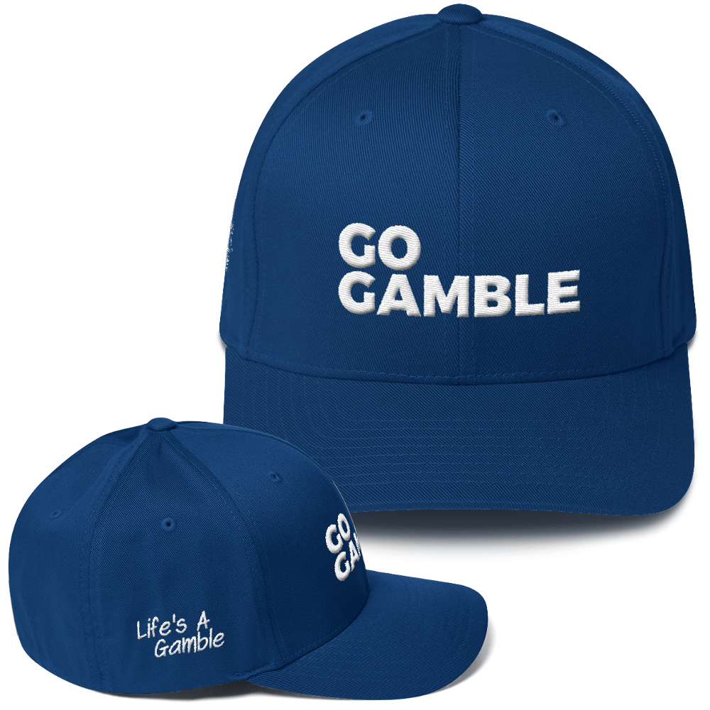 royal blue go gamble flexfit hat