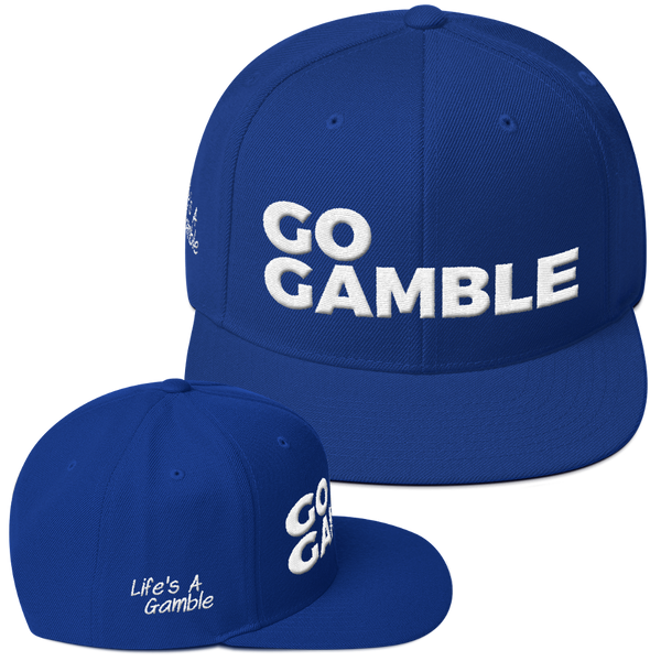 royal blue go gamble snapback hat