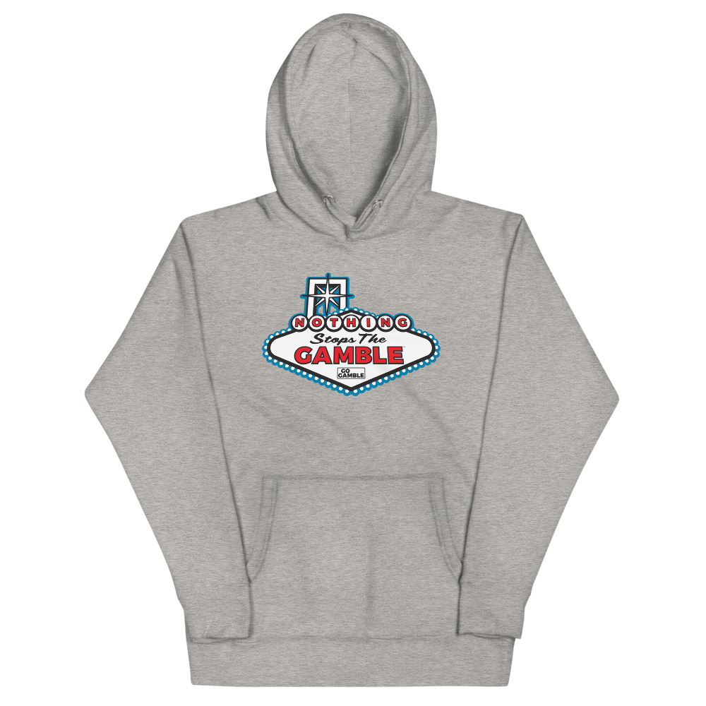 Nothing Stops the Gamble Premium Pullover Hoodie-Blue Version