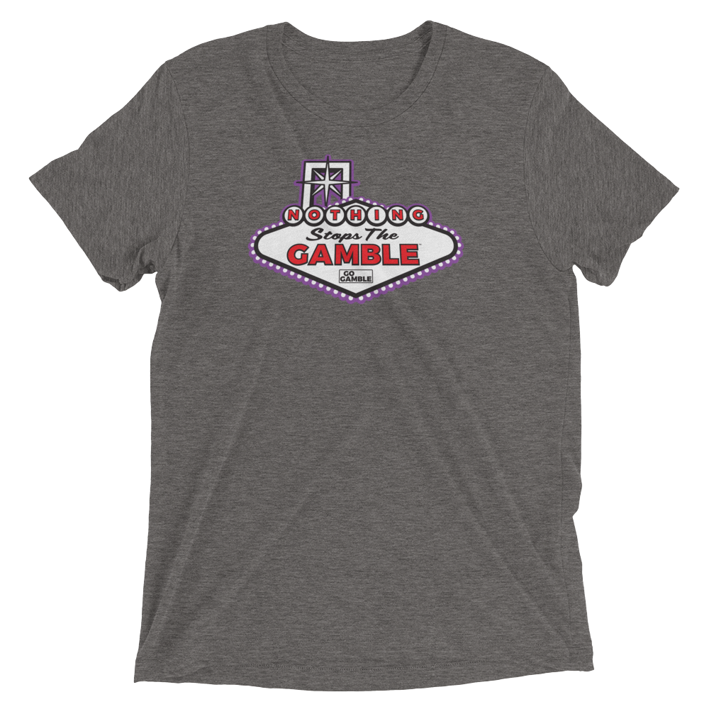 Unisex Nothing Stops the Gamble Tri-Blend T-Shirt-Purple Version