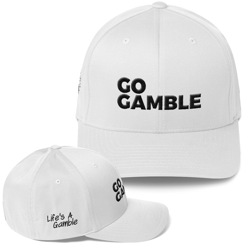white go gamble flexfit hat
