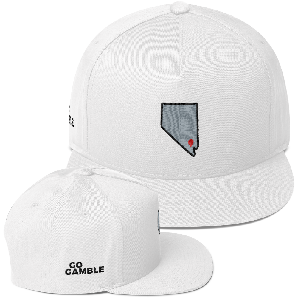 white Location Las Vegas Cotton Snapback