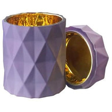 Emma  Candle Jar and Lid set - Lavendar with Gold lining