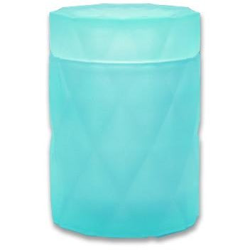 Emma  Candle Jar and Lid set - Turquoise glass