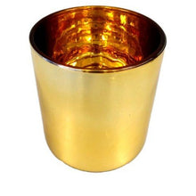 Haley Candle Container - Gold  with Gold lining