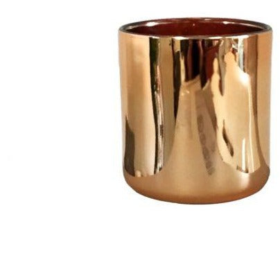 Haley Candle Container - Rose Gold with Rose Gold lining