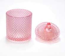 Audrey Glass Candle Jar with Lid - Pink