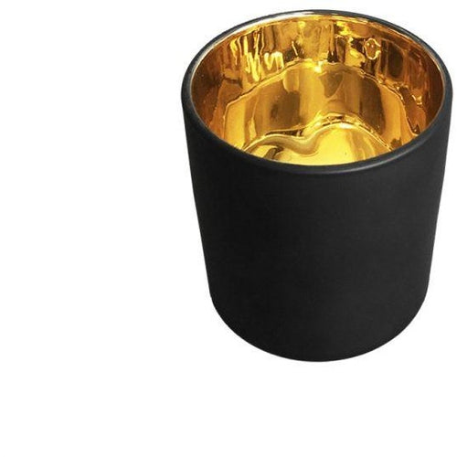 Haley Candle Jar - Black with Gold lining  **Available for pre-order  delivery April 17