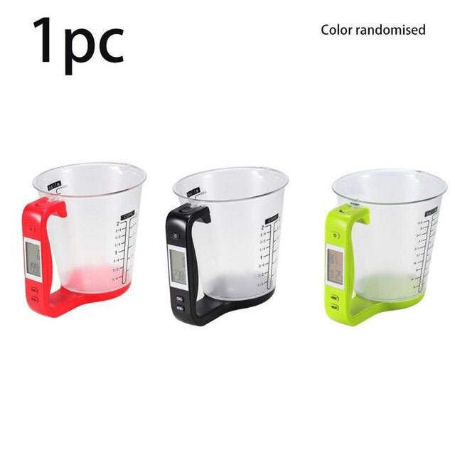With LCD Display Temperature Measuring Cup Kitchen Scales Digital Beaker Libra Electronic Tool Scale Temperature Measurement Cup