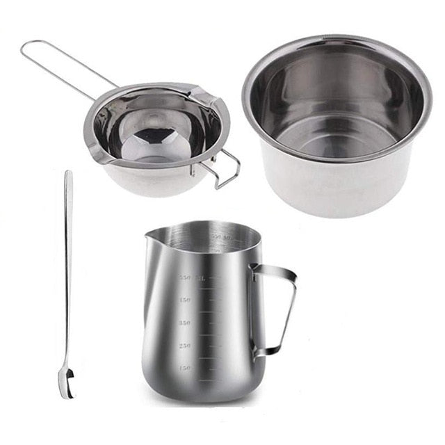 Candle Making Utensils Set - Double Boiler, Pouring Pitcher, Mixing Spoon