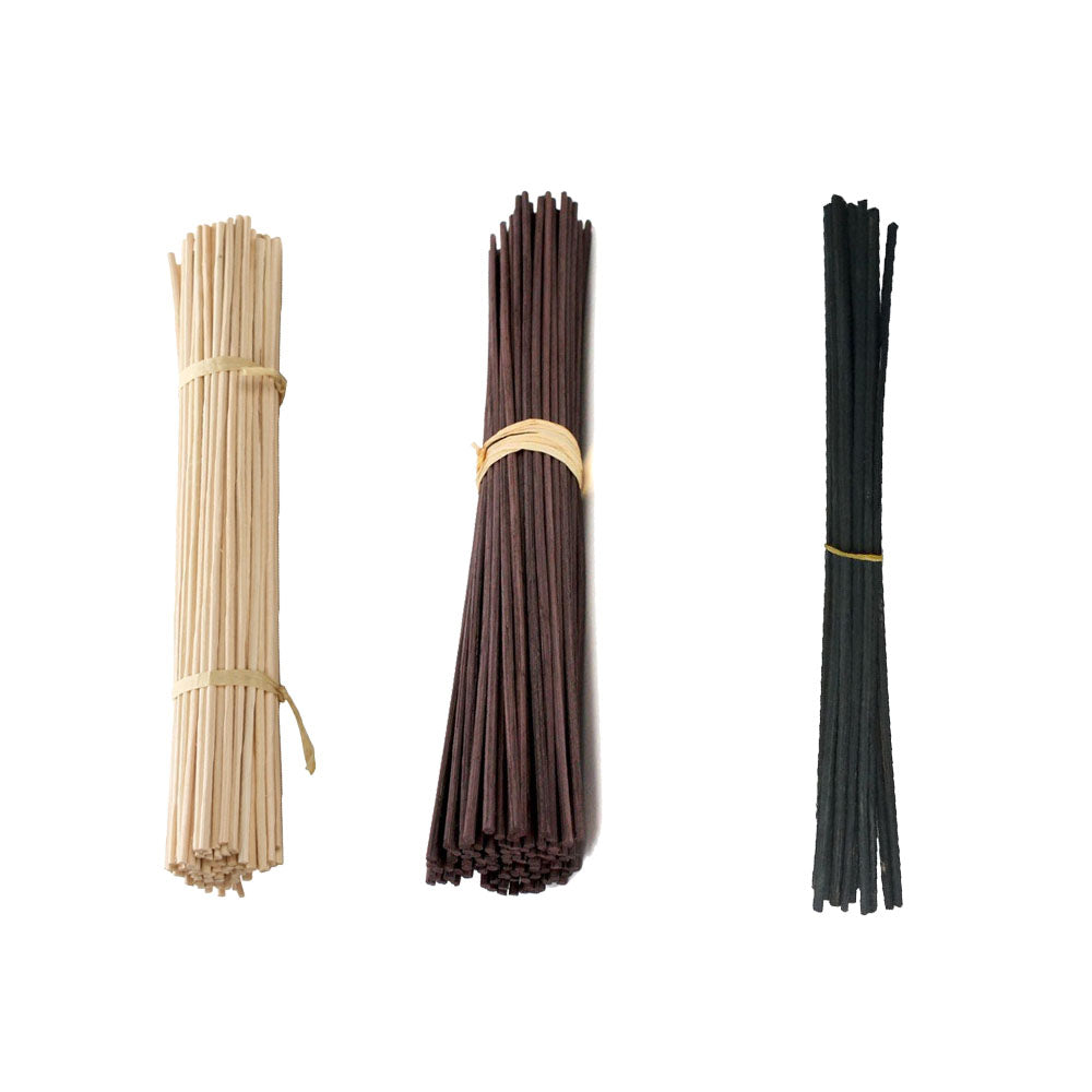 White+Brown+Black Each 15Pcs Rattan Reed Fragrance Diffuser Replacement Refill Sticks 7 Inch * 3mm
