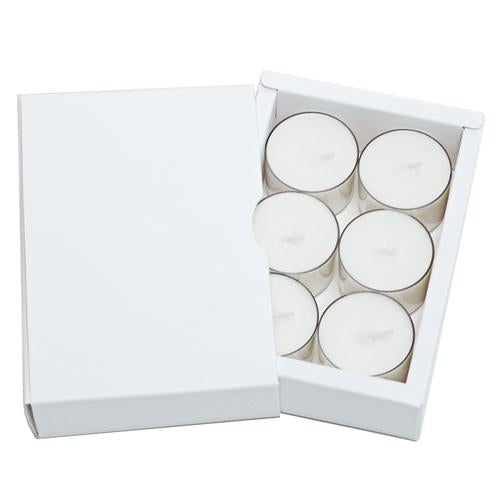 Tealight Brand Builder Box  - White   20 pcs