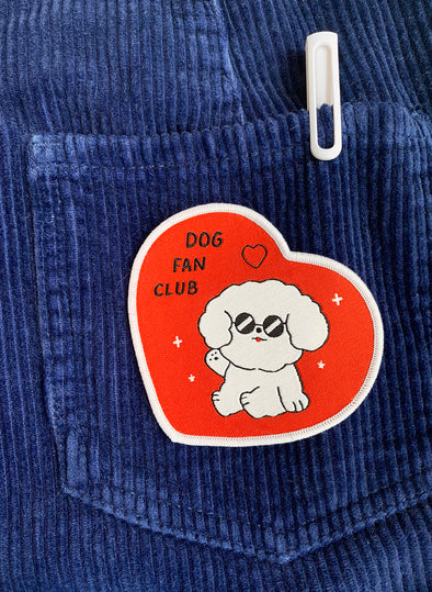 """Dog Fan Club"" Iron-on Patch"